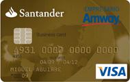 Tarjeta Santander Amway