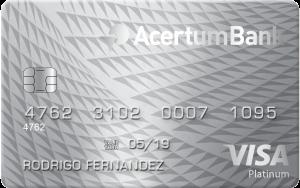 Tarjeta de credito platinum Acertumbank
