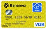 Tarjeta de crédito APAC de Banamex