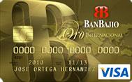 Tarjeta de Credito Visa Oro BanBajio