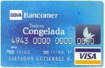 Tarjeta Congelada Bancomer