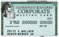 Tarjeta Corporate Meeting Card American Express
