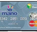 tarjeta mano fundacion donde banco