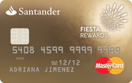 Tarjeta Santander Fiesta Rewards Oro
