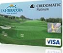 Tarjeta de crédito Club de Golf La Herradura Credomatic