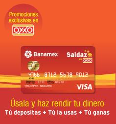 Tarjeta Saldazo Oxxo Banamex