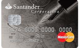 Tarjeta de crédito Corporativa Santander