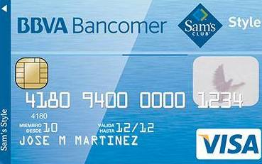 Tarjeta sam s club style de bancomer Habilitar visa debito para el exterior