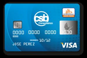 tarjeta clasica azul