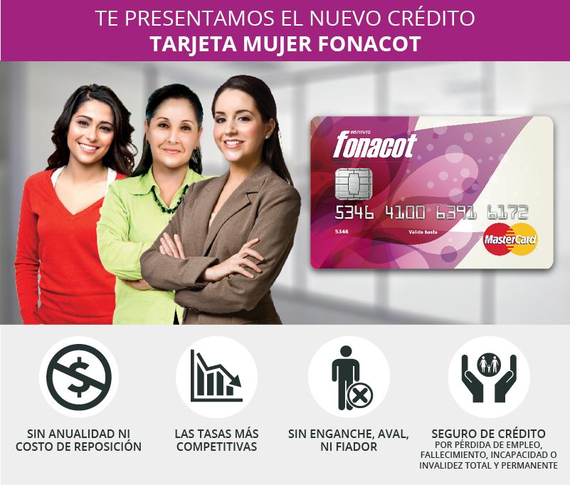 tarjeta mujer mastercard fonacot