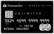 Tarjeta Santander World Elite