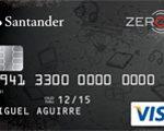Tarjeta Santander Zero